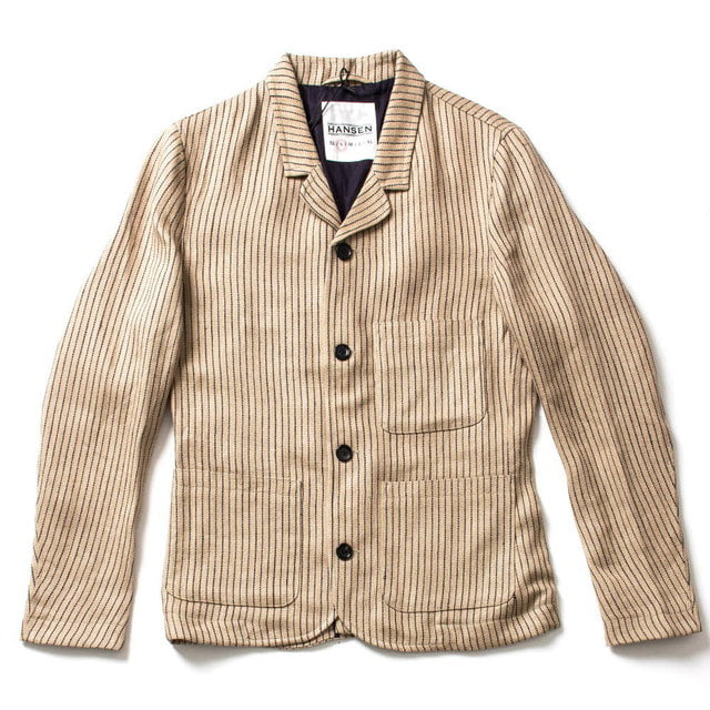 CASUAL FIVE BUTTON BLAZER_BEIGE