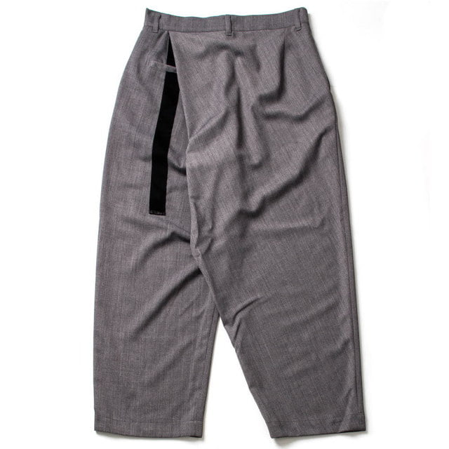 SUMMER WOOL BACK WARP PANTS_GRAY
