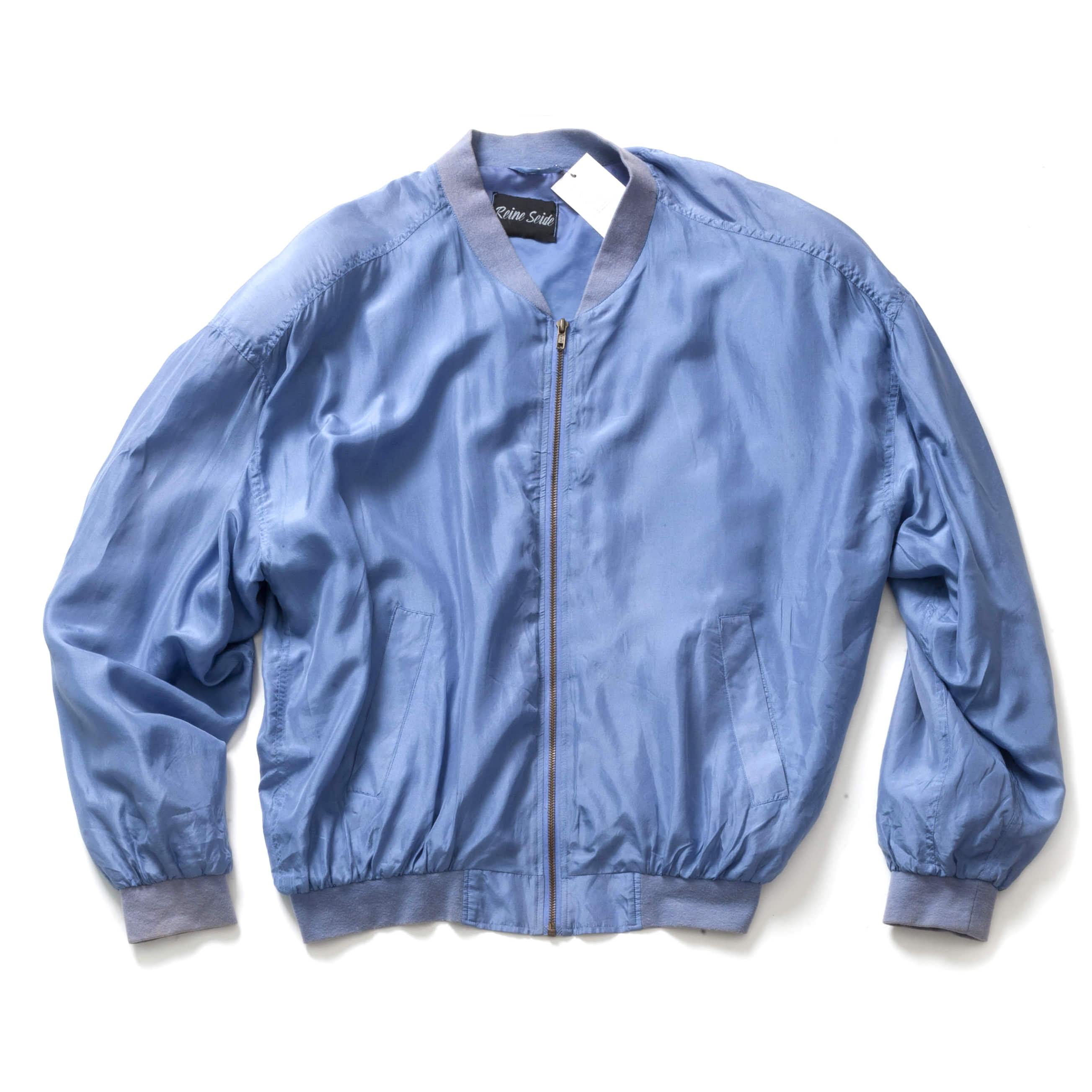 VINTAGE SILK MA-1 JACKET_SKY BLUE