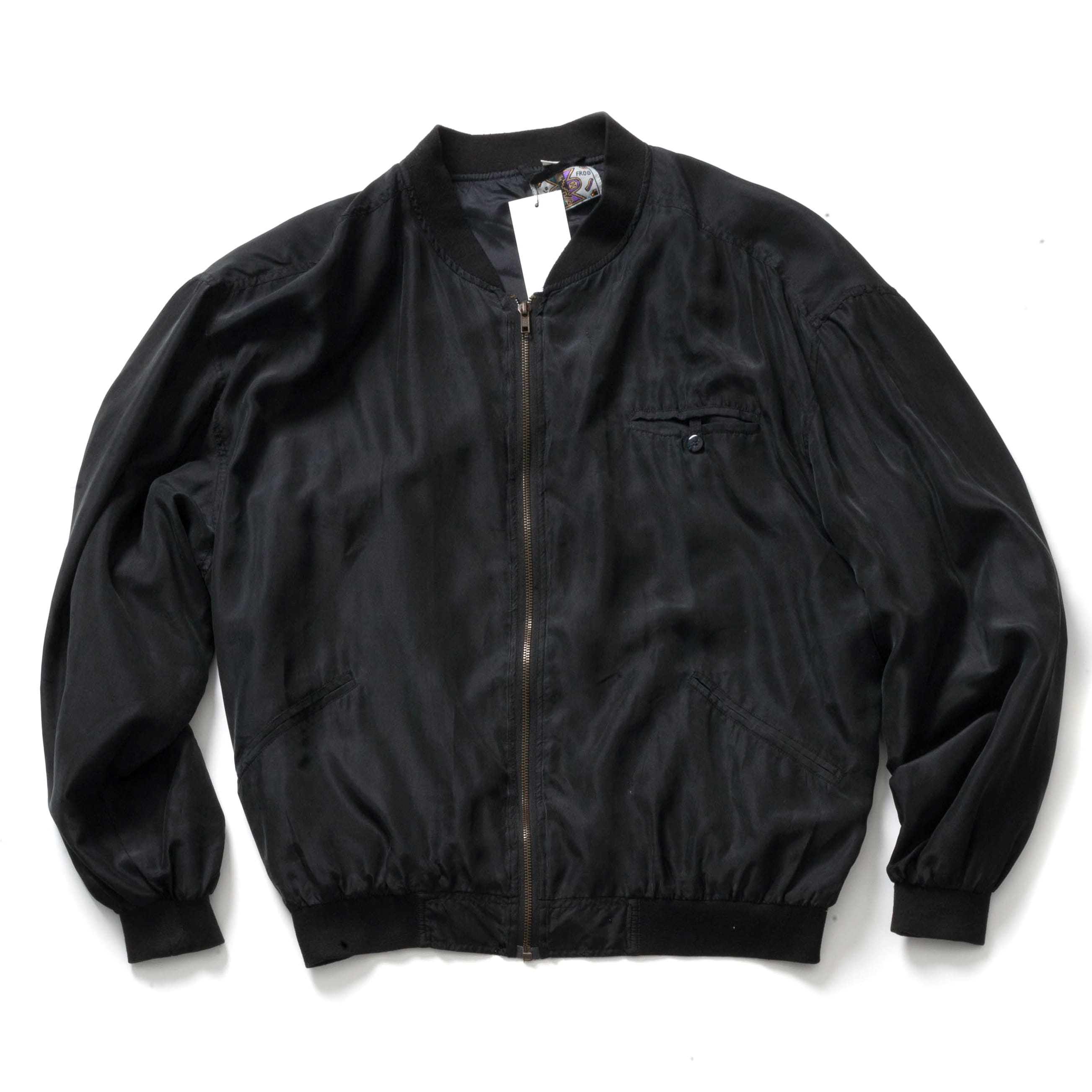 VINTAGE SILK MA-1 JACKET_BLACK