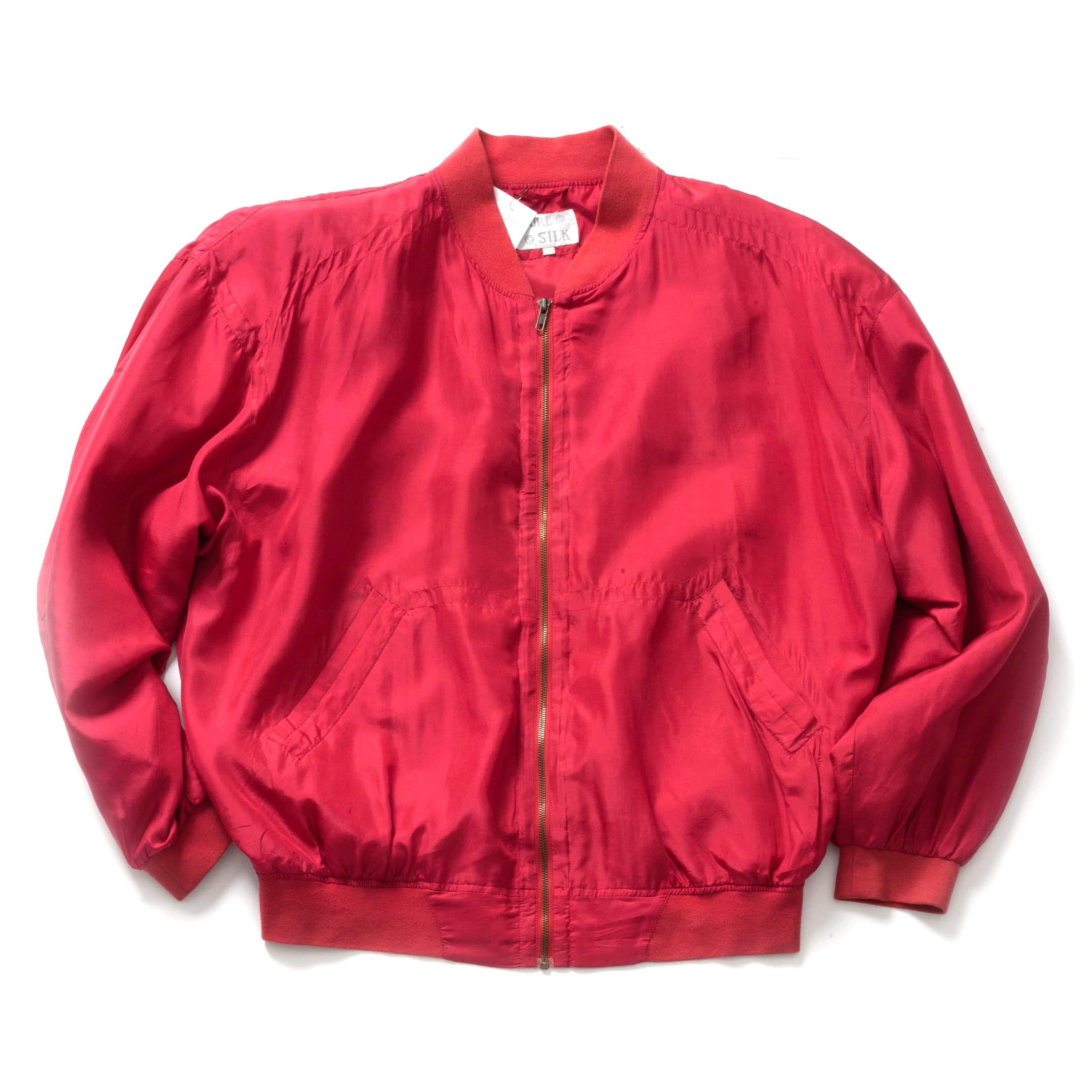 VINTAGE SILK MA-1 JACKET_RED