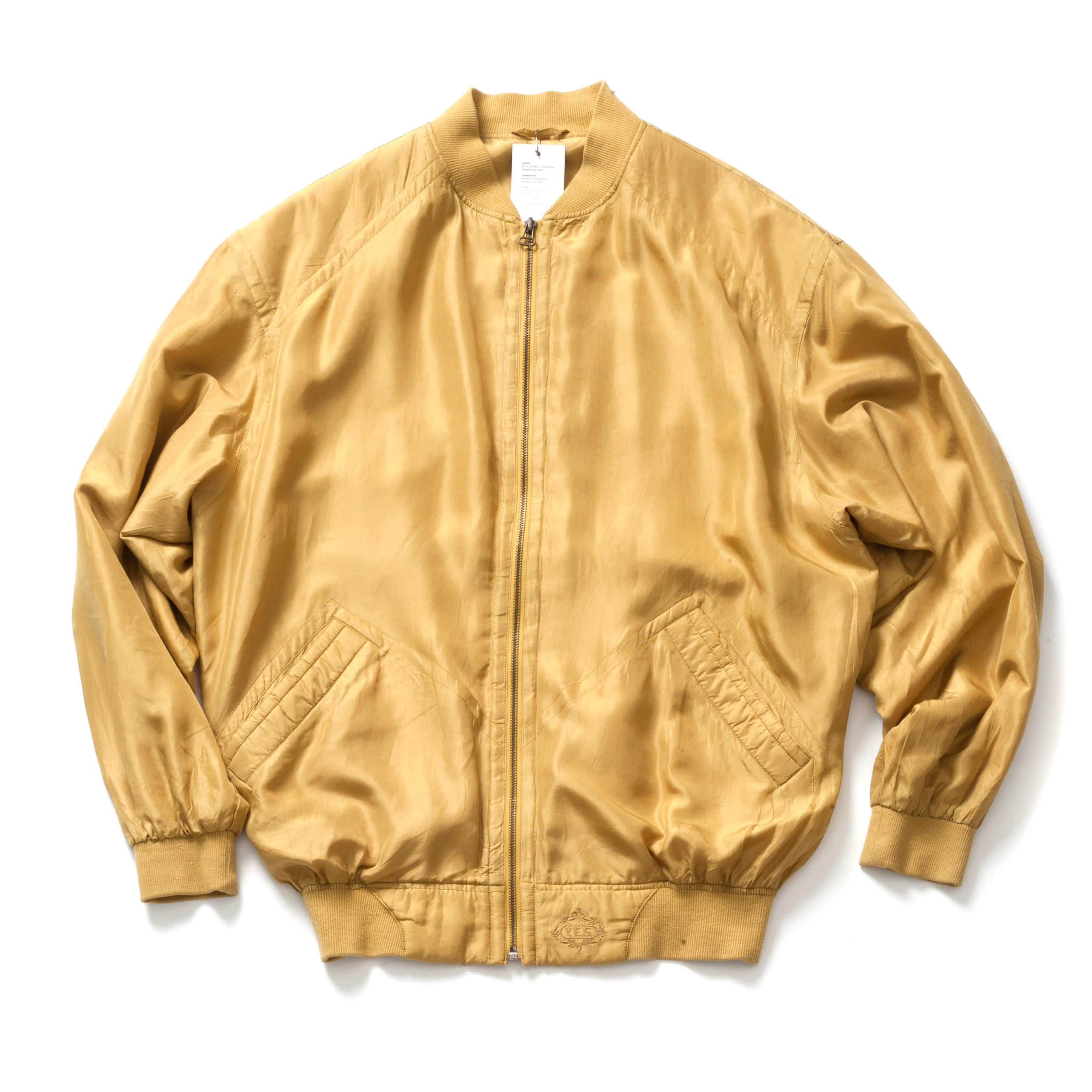 VINTAGE SILK MA-1 JACKET_YELLOW