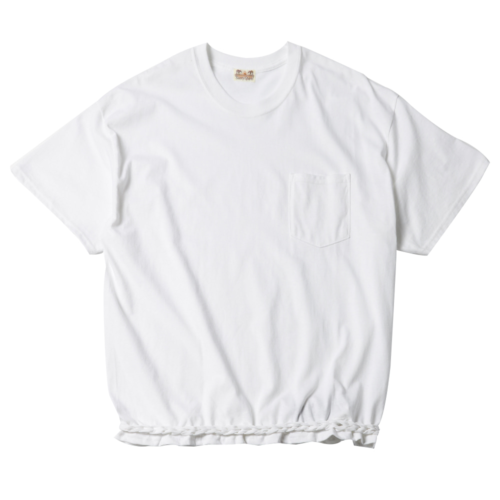 WAVE POKET T- SHIRT WH