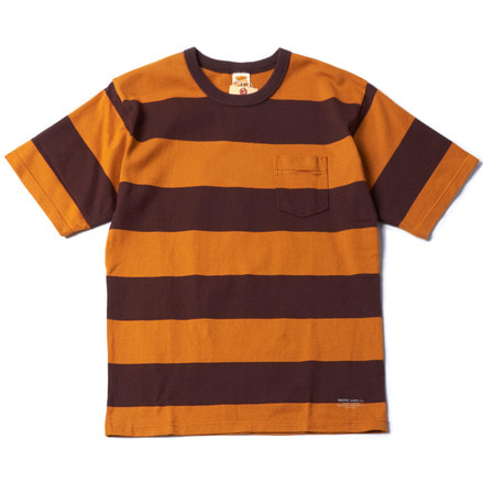 WIDE BOEDER S/S TEE - ROOT BEER