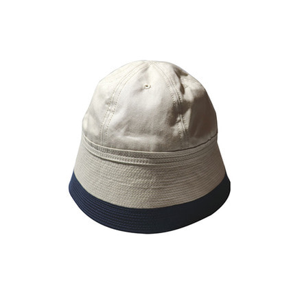 2 TONE SAILOR HAT - NATURAL