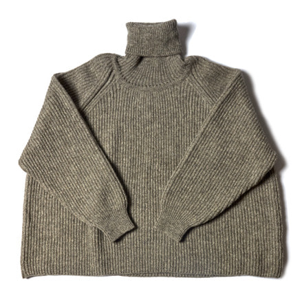 KNITTED TURTLE NECK _ GREY