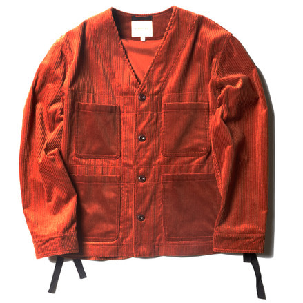 FOUR POCKET JACKET _ DARK ORANGE