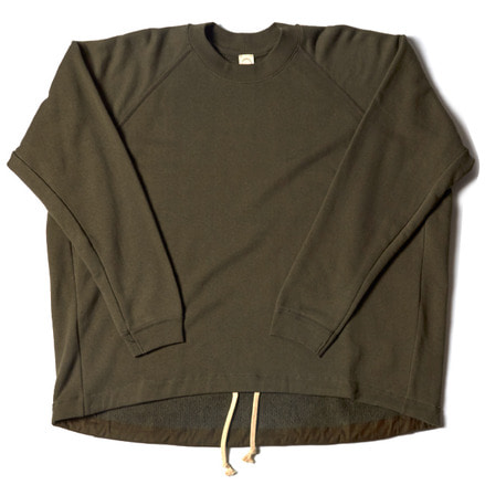 WIDE FIT CREW NECK SWEAT _ SWAMP