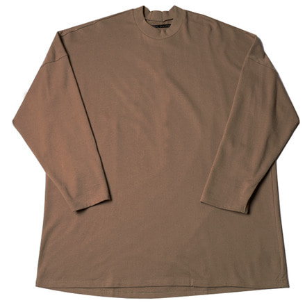 MINI FLEECY BIG L/S TEE - BEIGE