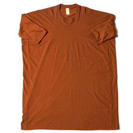 SS WIDE LONG FIT TEE _ SAFFRON