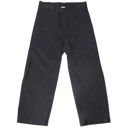 TROUSERS#46 - OFF-BLACK WOOL TWILL