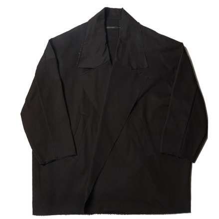 COMPACT CHINO BIG WIDE JACKET - BLACK