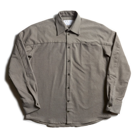LOOSE CUT SHIRT WITH SLEEVE INSERT_SOFT GREY
