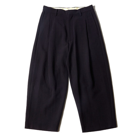 COTTON 1TUCK SLACKS - NAVY
