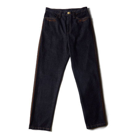 EMBROIDERED TYROL PANTS_DENIM