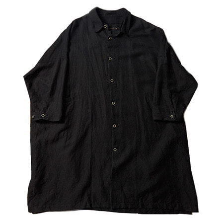 LONG SHIRT COAT_BLACK