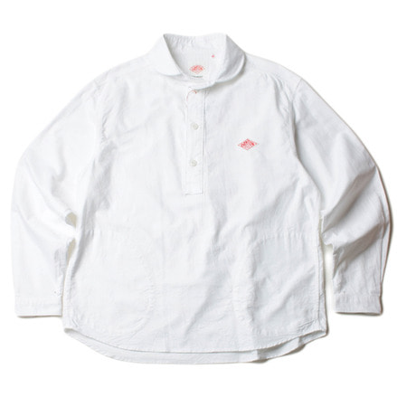 ROUND COLLAR SHIRT_WHITE