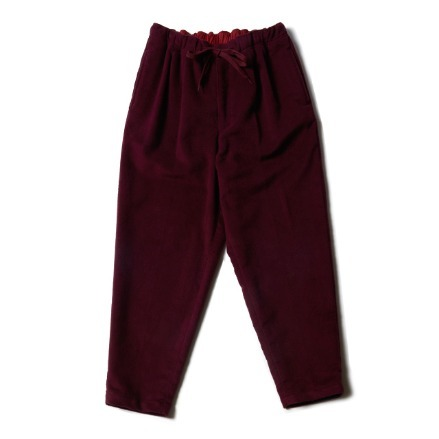 2PLEATS EASY PANTS MOLESKIN_BURGUNDY
