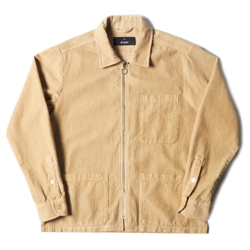 ZIP SHIRT_BEIGE