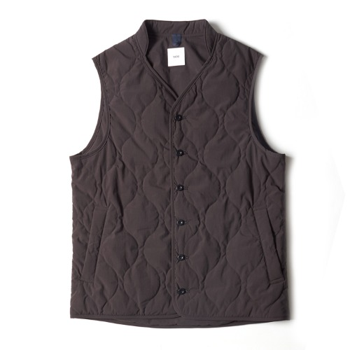 QUILTED LINER VEST_GRAY