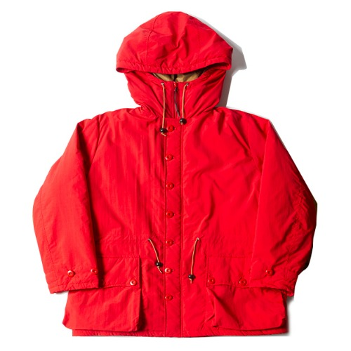 BUTTON FRONT PARKA_RED