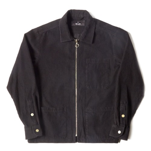 ZIP SHIRT_BLACK