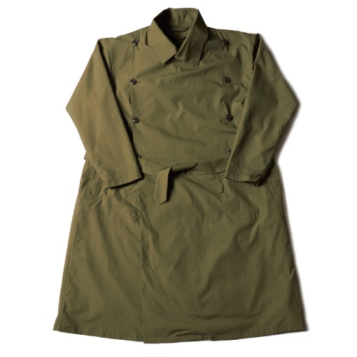 FRENCH ARMY TRENCH COAT_OLIVE