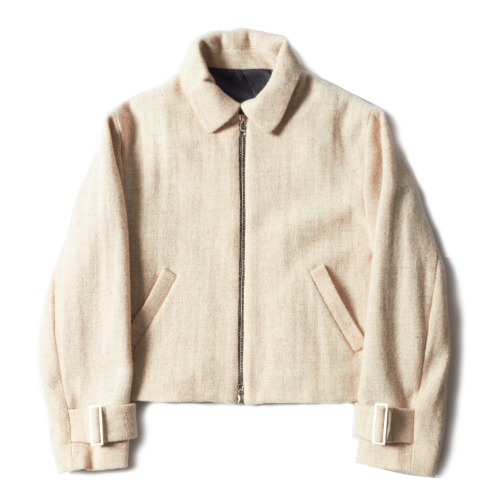 CHILDHOOD JACKET_HARRIS TWEED CAMEL