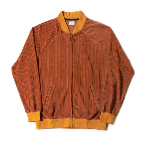 STRIPED TRACK TOP_BROWN