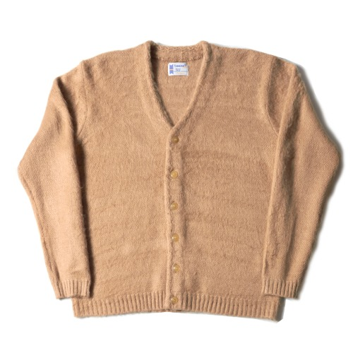 SOLID JACQUARED 70S CARDIGAN_BEIGE