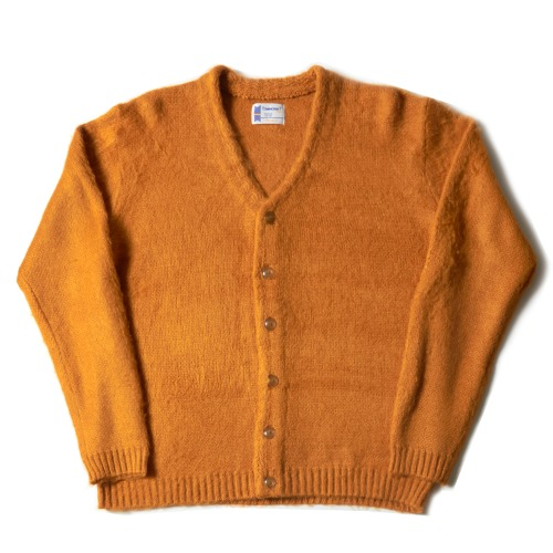SOLID JACQUARED 70S CARDIGAN_MUSTARD