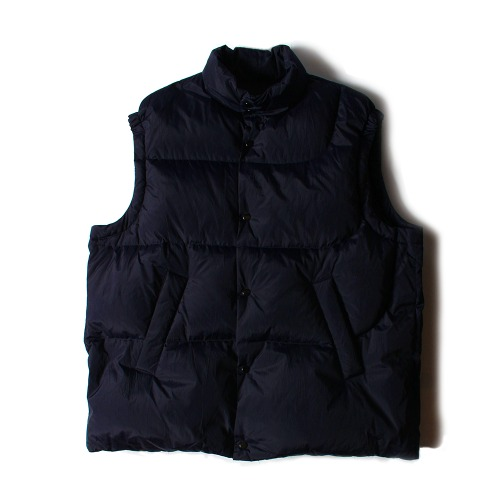 NYLON SILK DOWN VEST_NAVY