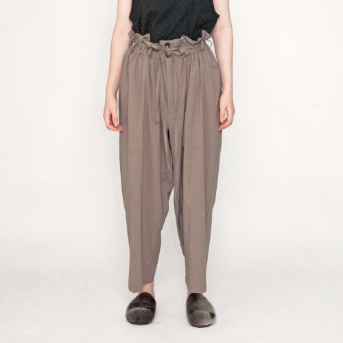 TROPICAL CLOTH EASY PANTS_BEIGE