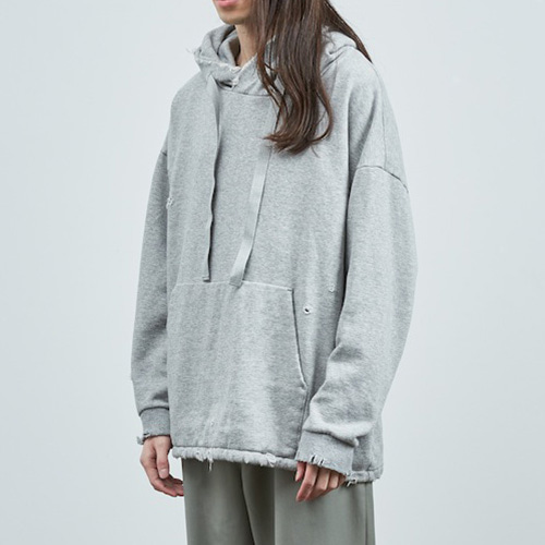 DAMAGE SWEAT HOOD_GRAY