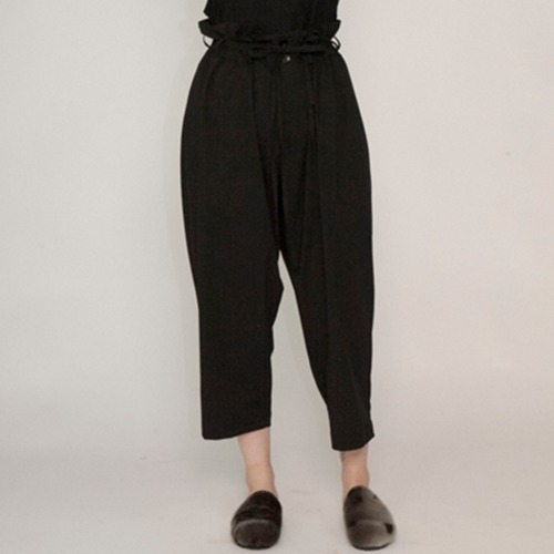 TROPICAL CLOTH EASY PANTS_BLACK