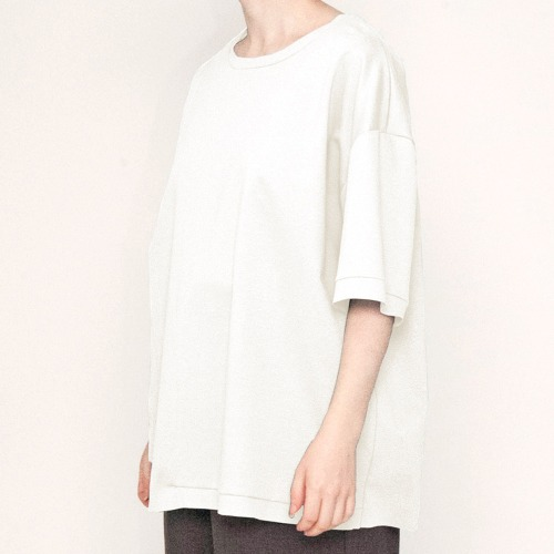 ASYMMETRY T-SHIRTS_WHITE