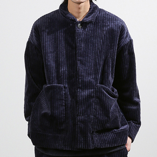 BIG CORDUROY JACKET_NAVY