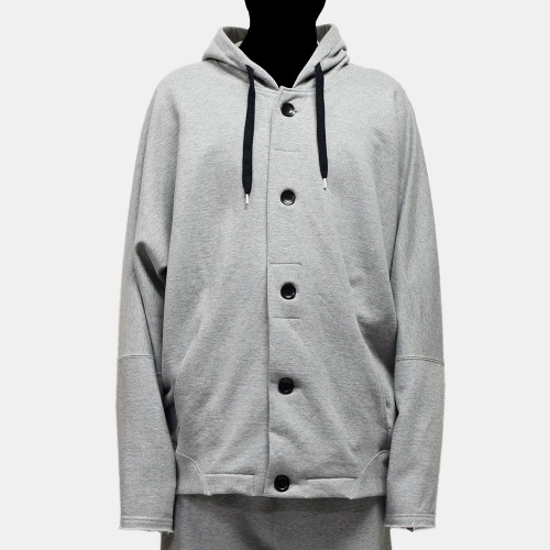 SWEAT HOOD BLOUSON_GREY