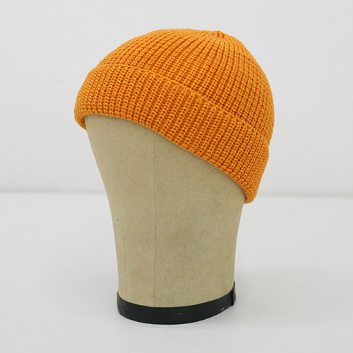 KNIT CAP SHORT_ORANGE