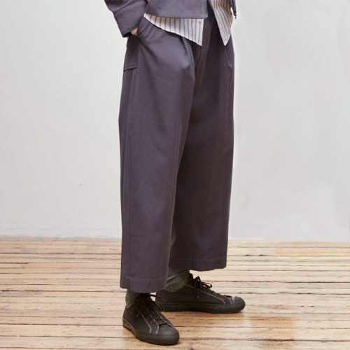 BLAKE FLUID TWILL VOLUME PANTS_GRAPHITE