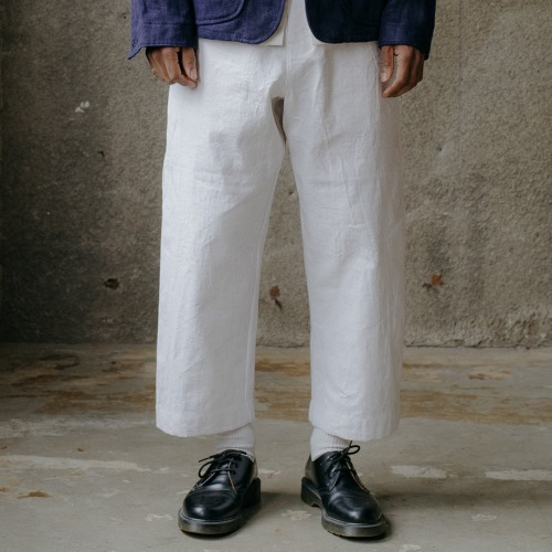 ELASTIC PANTS_WHITE