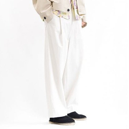COTTON 1TUCK PANTS TYPE A_IVORY