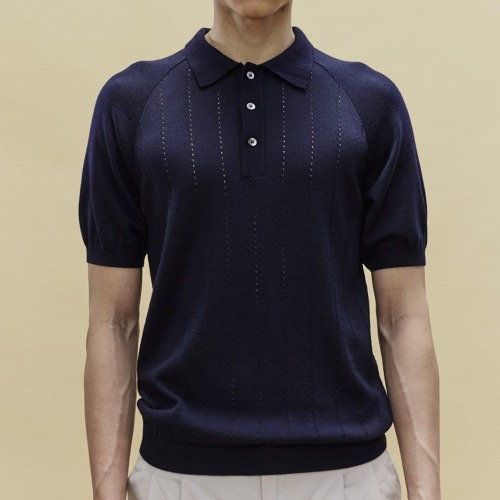 BACCARA KNIT POLO_NAVY