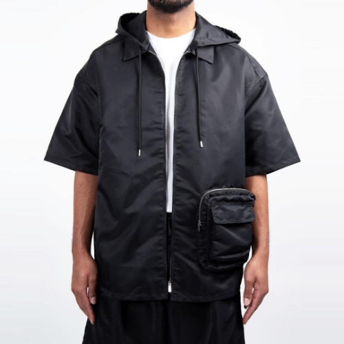 UTILITY HOODED SHIRT_BLACK