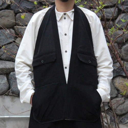 GILET#10 - BLACK BAMBOO CLOTH
