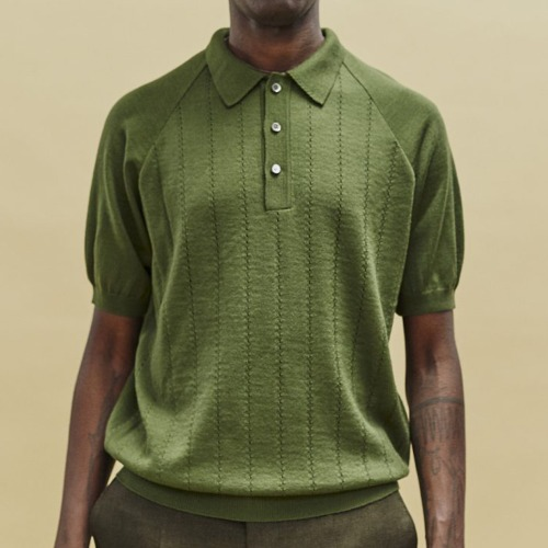 BACCARA KNIT POLO_OLIVE