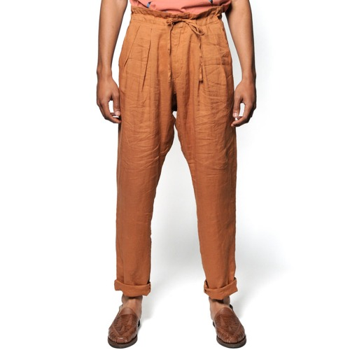 DROP CROTCH PANTS_BROWN