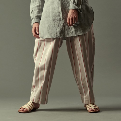 SATIN WIDE EASY PANTS_STRIPE