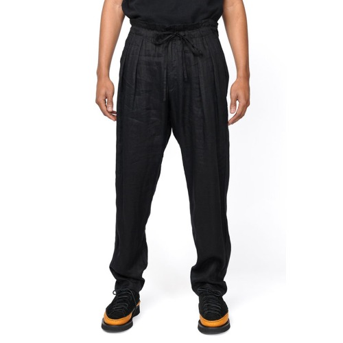 DROP CROTCH PANTS_BLACK