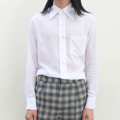 FLARE COLLAR SHIRT_WHITE